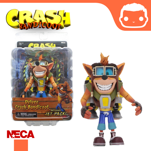 NECA - Crash Bandicoot – 7″ Scale Action Figure – Jet Pack Crash