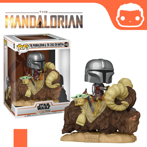 #416 - The Mandalorian - Mando on Bantha w/Child [Pre-Order]