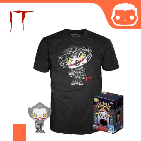 Stephen Kings IT - Chapter 2 POP! & Tee Box Pennywise Exclusive (Extra-Large)