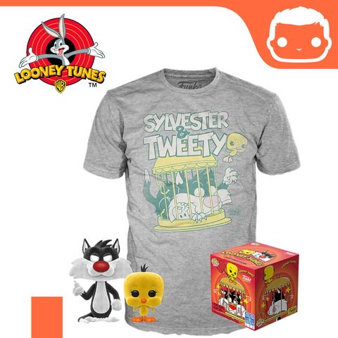 Looney Tunes - Sylvester & Tweety - Pop! & Tee Exclusive Box Set [Medium]