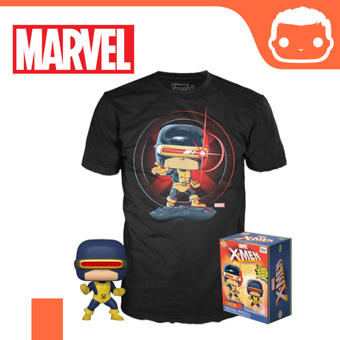 Marvel 80th POP! & Tee Box First Appearance Cyclops Box Set - Size: XL