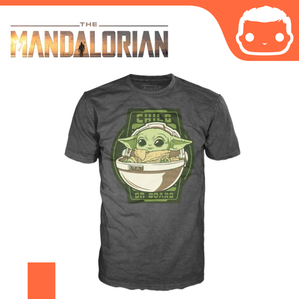 Official Funko Tee - The Mandalorian - Child On Board [Large]