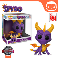 "#528 - Spyro The Dragon - 10"" Supersize Spyro Exclusive"
