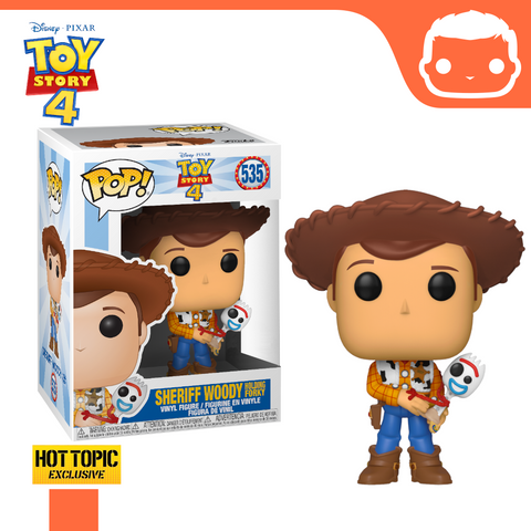 #535 - Toy Story 4 - Sheriff Woody Holding Forky - Hot Topic Exclusive