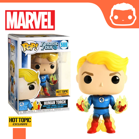 #569 - Fantastic Four - Human Torch - Hot Topic Exclusive