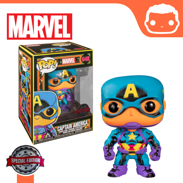 #648 - Marvel - Black Light Captain America Exclusive