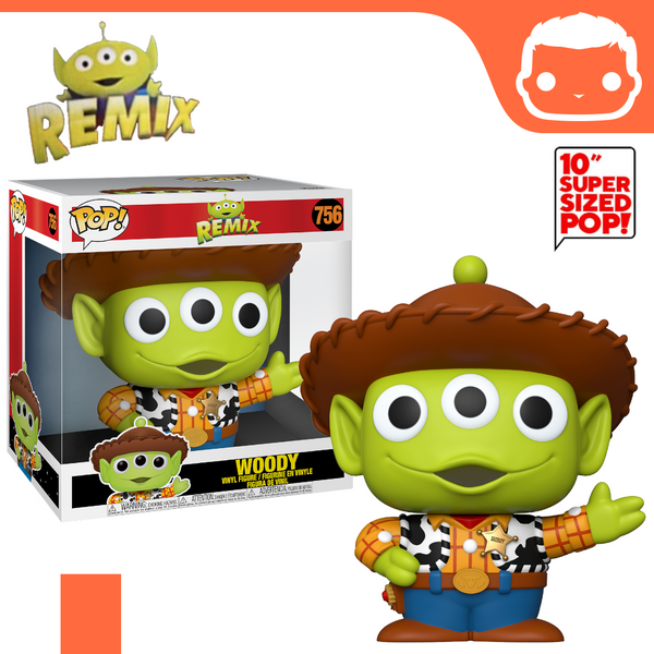 "#756 - Pixar Alien Remix - Woody 10"" Supersized Exclusive"