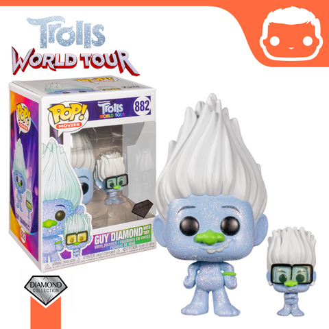 #882 - Trolls World Tour - Guy Diamond (Diamond Glitter) w/ Tiny