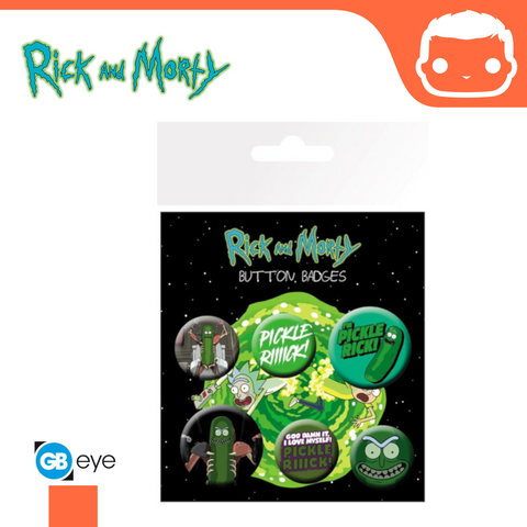 Rick and Morty Badge Pack - Pickle Rick