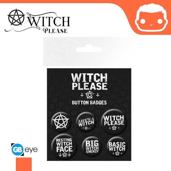 Badge Pack - Witch Please Assorted