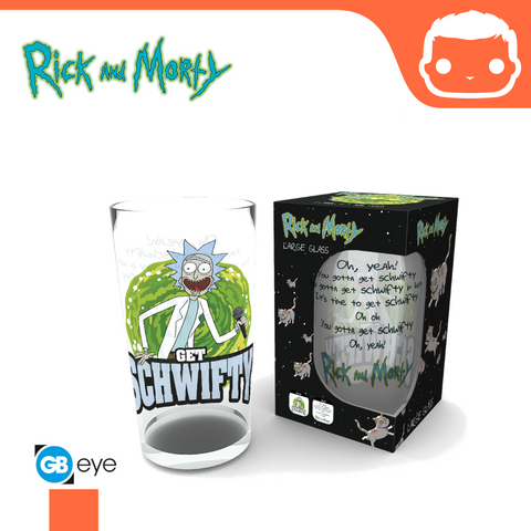 Large Glass - Rick & Morty - Get Schwifty