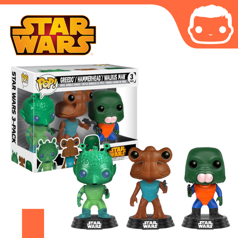 Star Wars - Greedo, Hammerhead & Walrus Man Pop! Vinyl Figure 3-Pack [Damaged]