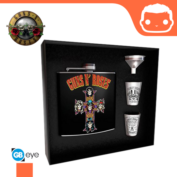Hip Flask Set - Guns N Roses - (Cross Bravado)