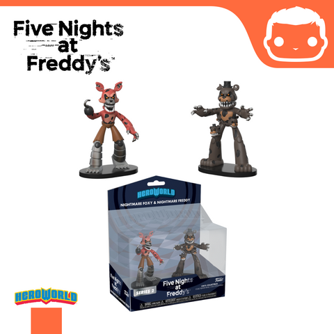 Hero World: 2-Pack FNAF Nightmare Freddy & Foxy