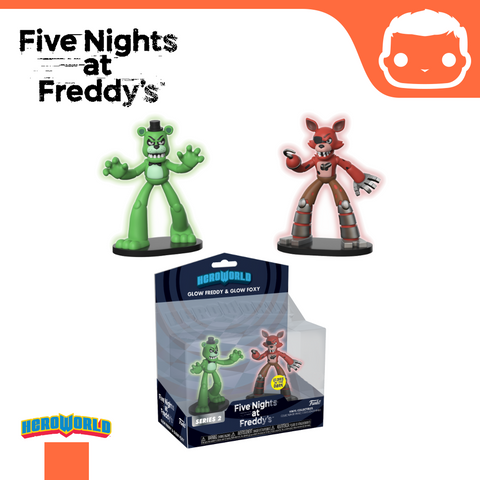 Hero World: 2-Pack FNAF GITD Freddy & Foxy