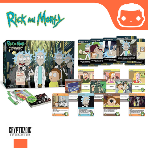 Close Rick Counters of the Rick Kind: Rick and Morty Deck Building Game