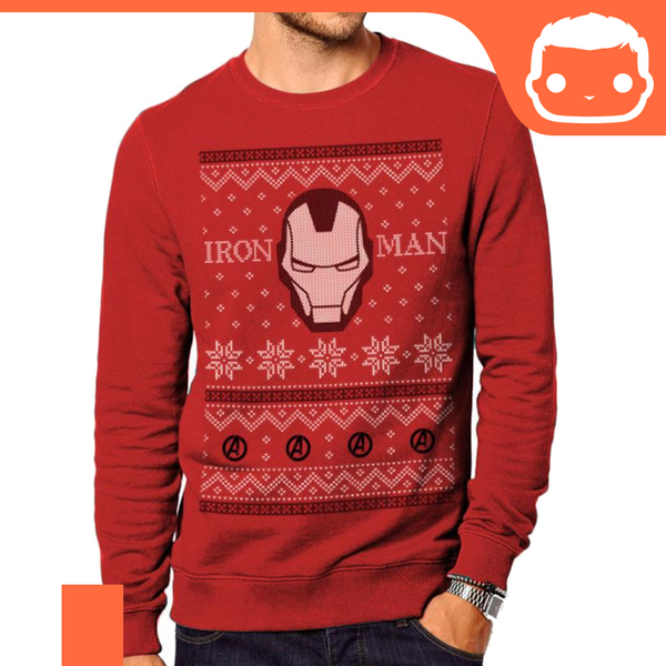T-Shirt - Size: L - Iron Man Christmas Jumper