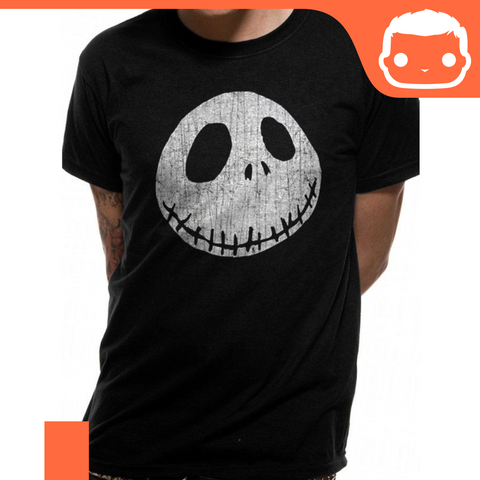 T-Shirt - Size: M - Nightmare Before Christmas - Jack's Face