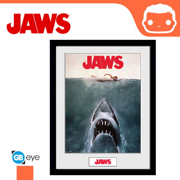 Jaws - Key Art - 30 x 40 Framed Collectors Print