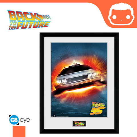 Back to the Future - 30 x 40 Collector Print - Delorean 35th