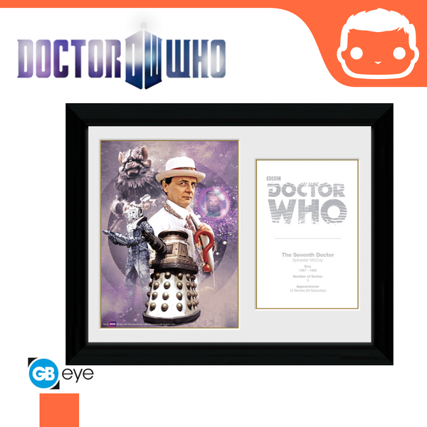 Doctor Who - 7th Doctor Sylvester McCoy - 30 x 40 Framed Collectors Print