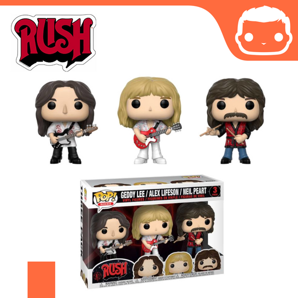 Rush - Geddy Lee, Alex Lifeson & Neil Peart - 3 Pack