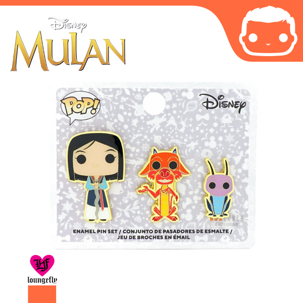 Funko - Disney - Mulan 3 Piece Enamel Pin Set