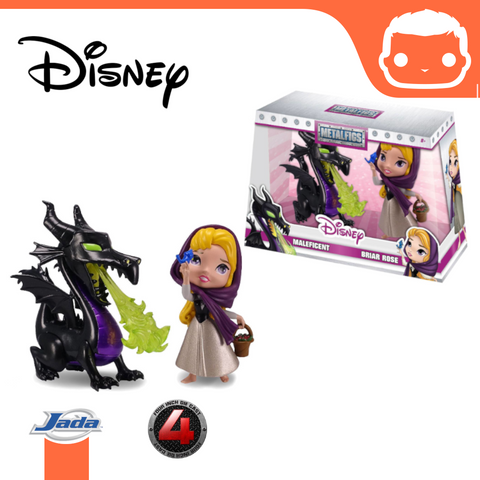 Disney Metalfigs Diecast Mini Figures 2-Pack Maleficent & Briar Rose 10 cm [Damaged]