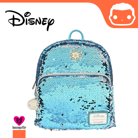Disney by Loungefly Backpack Elsa Reversible Sequin