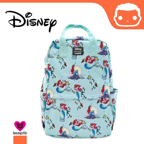 Disney by Loungefly Backpack The Little Mermaid Ariel Scenes AOP