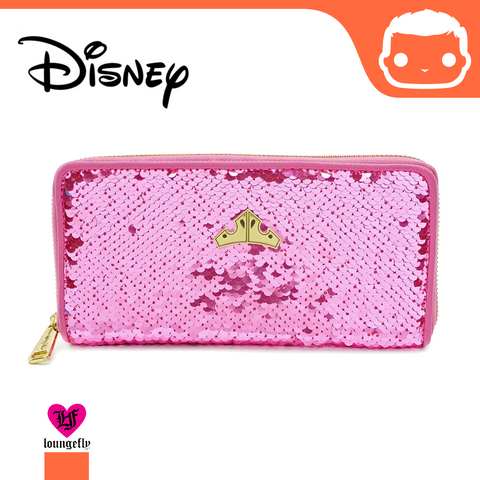 Disney by Loungefly Flap Purse Sleeping Beauty Reversible Sequin