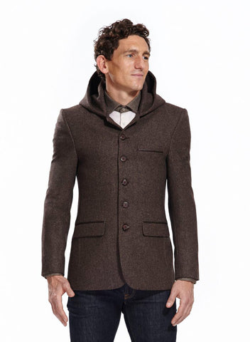 Sark Brown Hooded Jacket