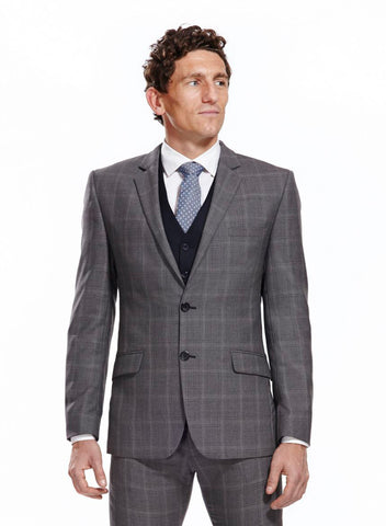Eaton Quilted Grey Blazer