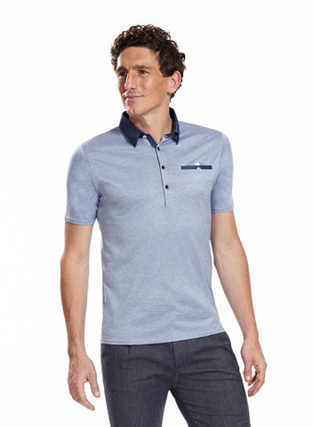 Dean Light Blue polo shirt