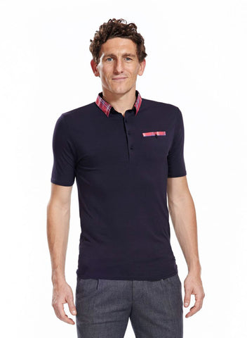 Morris slim fit navy polo shirt