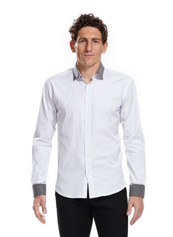 Athletic fit Tilney White Shirt