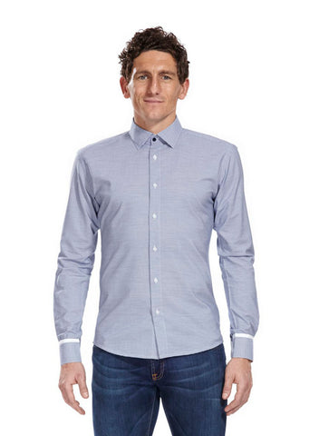 Athletic fit Vere Blue Checked Shirt
