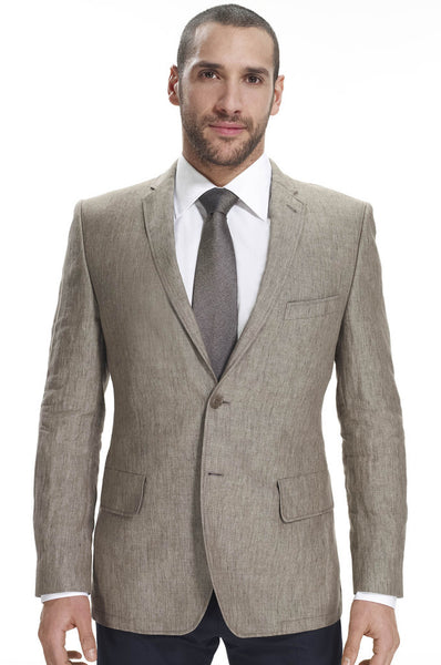 Brown slim fit mens blazer