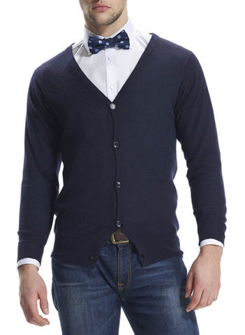 Bromley Navy cashmere cardigan