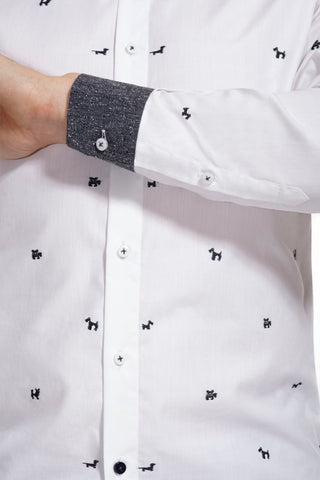 Beaumont White Shirt with contrasting collar and cuffs