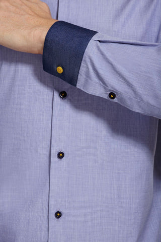 Neville light Blue Cotton Shirt