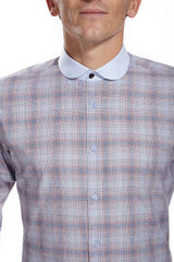 Coleman Gingham Shirt with rounded collar