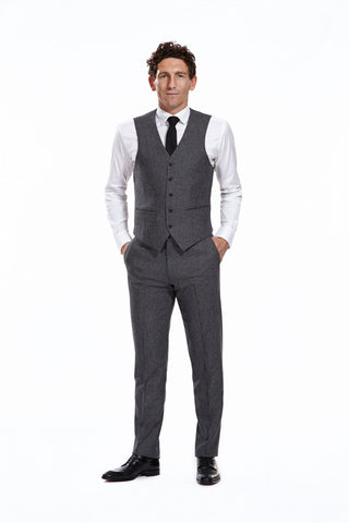 Teddy Grey Trousers with matching waistcoat