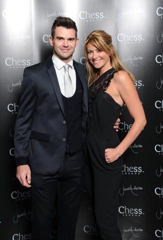 Chess London James Anderson Collection launch event - James Anderson and wife Daniella