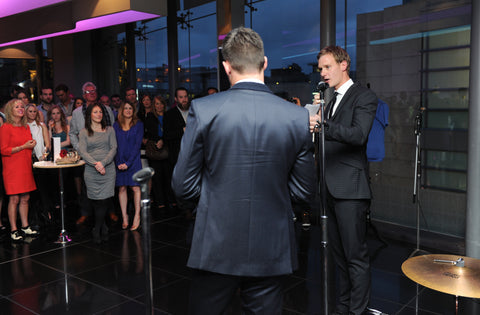 Chess London James Anderson Collection launch event - James Anderson and Dan Walker