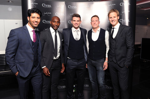 Chess London James Anderson Collection launch event - Jason Roberts, James Anderson, Phil Jones, Dan Walker
