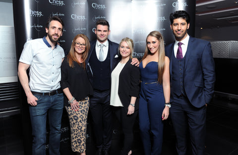 Chess London James Anderson Collection launch event - James Anderson with Chess London team
