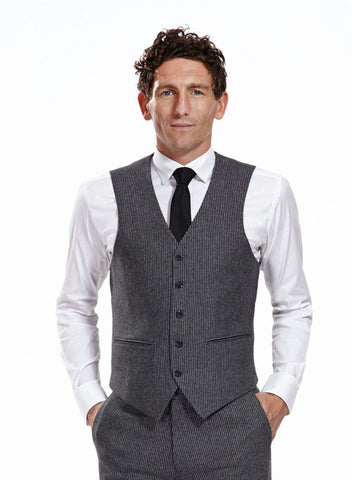 The grey Jake waistcoat made from textured wool
