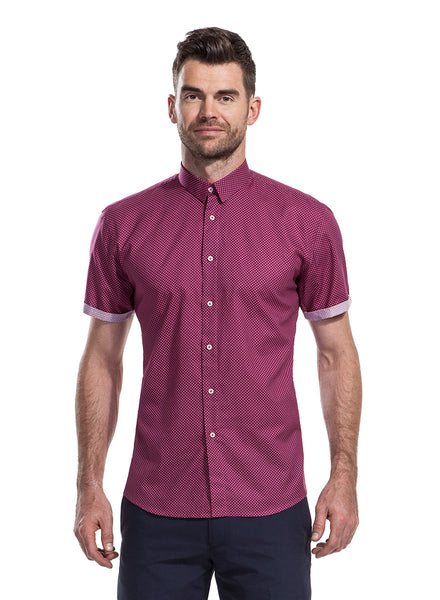 James Anderson Collection Lowry Cherry Shirt