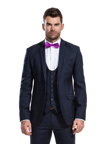 The Lewis check blazer, Lords waistcoat and Hawthorn trousers from the James Anderson Collection